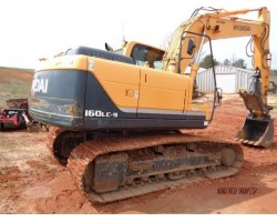 2012 HYUNDAI R160LC-9 HYDRAULIC EXCAVATOR WITH THUMB FOR SALE